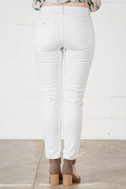Go Fish Clothing White Skinny Jean - Back cropped