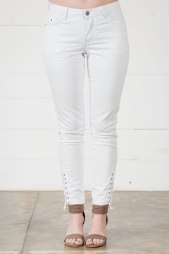 Go Fish Clothing White Skinny Jean - Product List Image