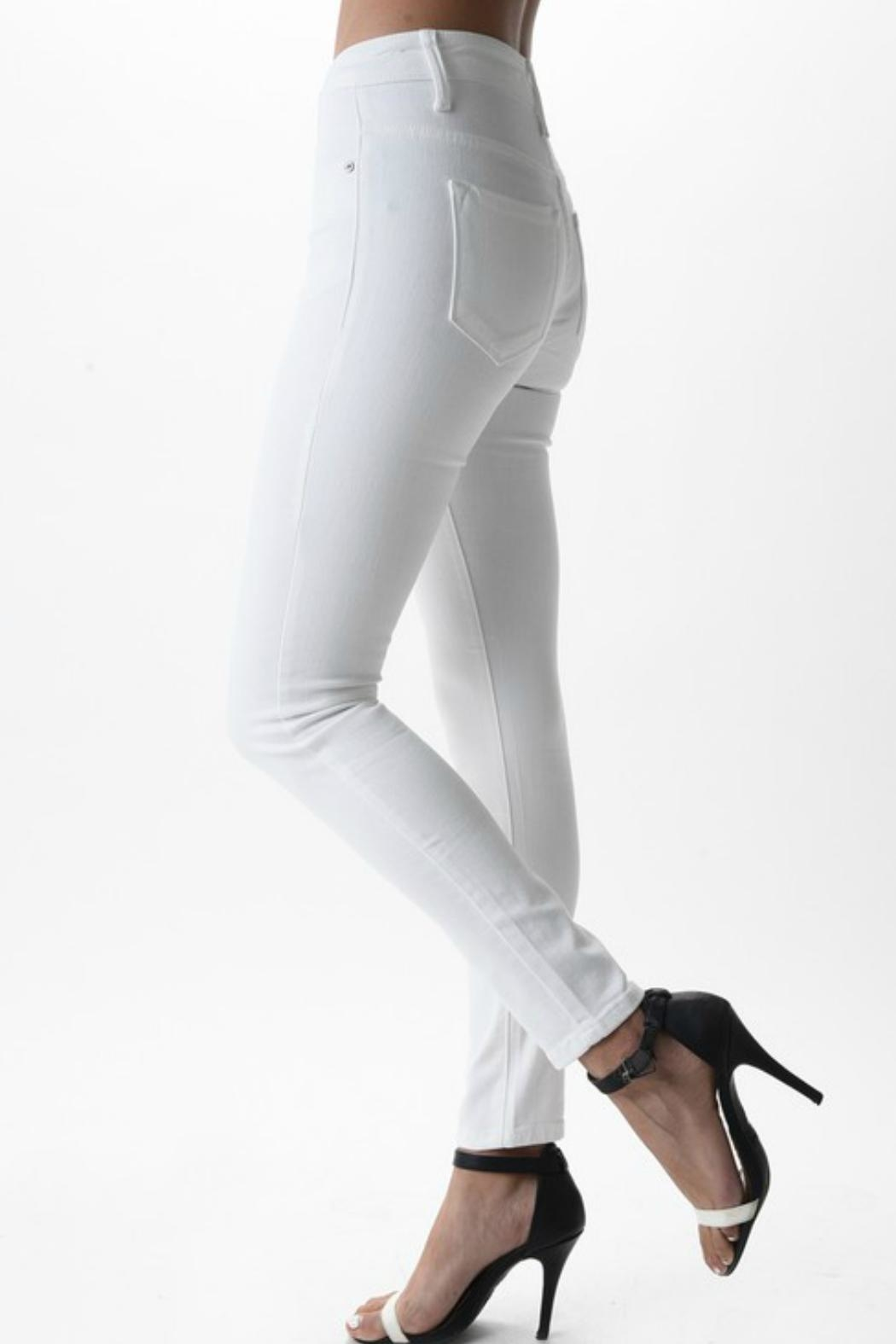 Imagine That White Skinny Jeans - Side Cropped Image