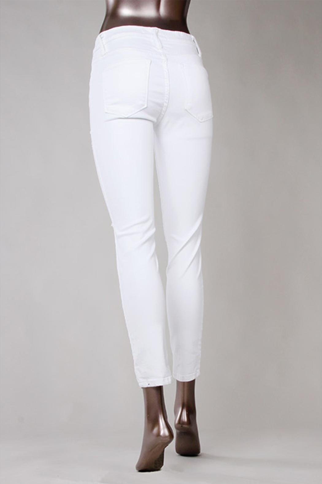 Flying Monkey White Skinny Jeans - Side Cropped Image