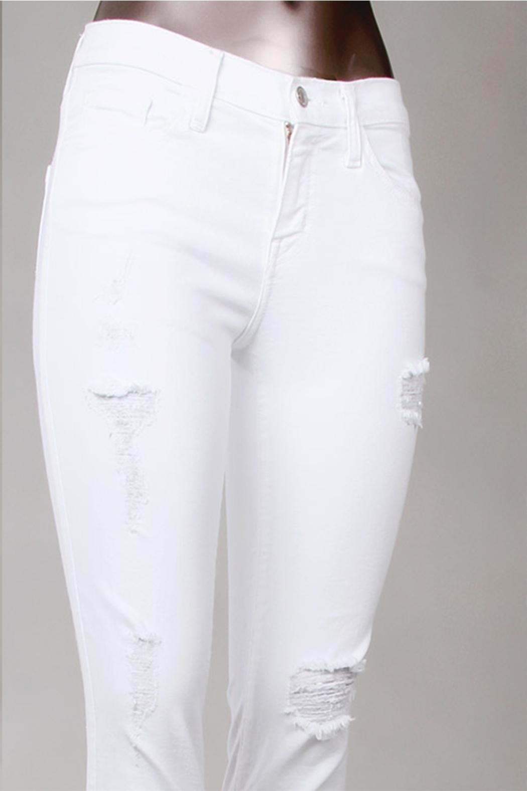 Flying Monkey White Skinny Jeans - Front Full Image