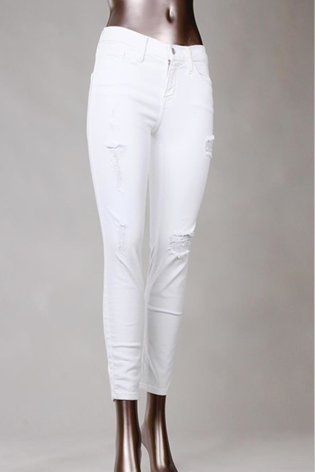 Flying Monkey White Skinny Jeans - Main Image