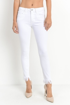 Just Black Denim White Skinny Jeans - Product List Image