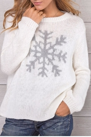 Wooden Ships White Snowflake Crewneck - Product Mini Image