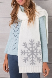 Wooden Ships White Snowflake Scarf - Product Mini Image