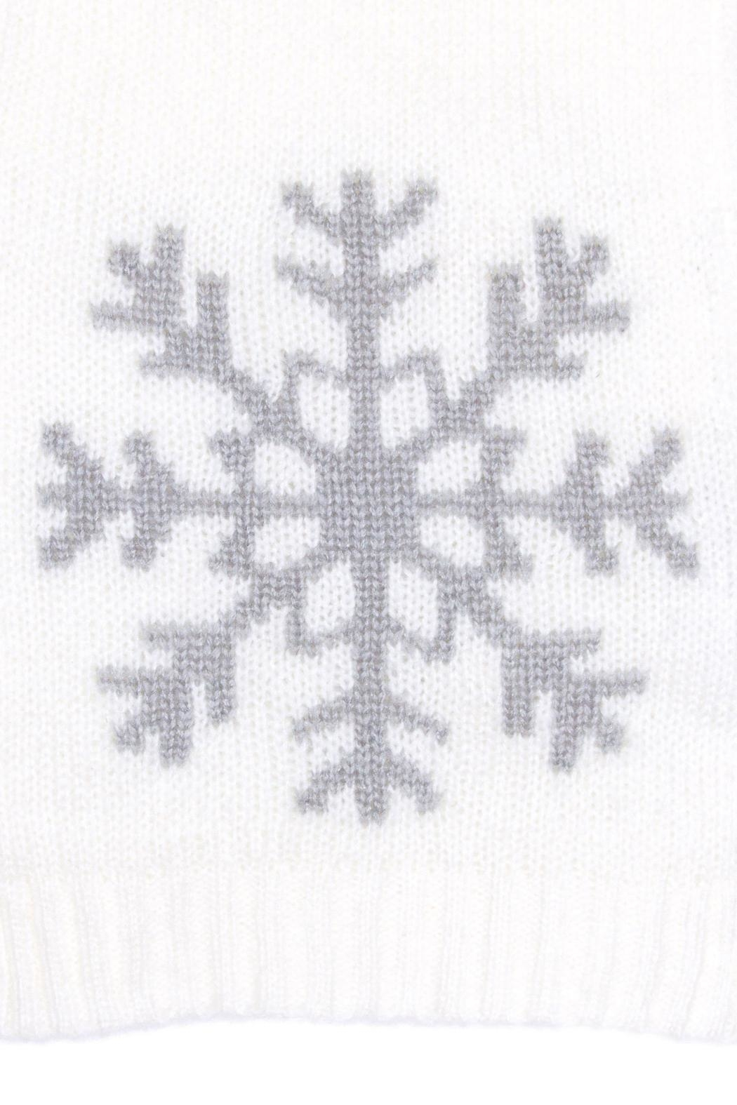 Wooden Ships White Snowflake Scarf - Front Full Image