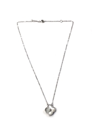 Lets Accessorize White-Stone Clover Necklace - Product Mini Image