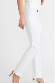 Joseph Ribkoff  White straight leg pull on pant - Product Mini Image