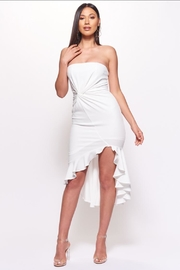 Chikas White Strapless Dress - Front cropped