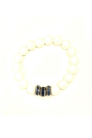 The Woods Fine Jewelry  White Stretch Bracelet with 3 Beads - Product Mini Image