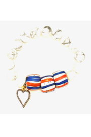 The Woods Fine Jewelry  White Stretch Bracelet with Red White and Blue Beads and Heart - Product Mini Image