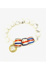 The Woods Fine Jewelry  White Stretch Bracelet with Red White and Blue Beads - Product Mini Image