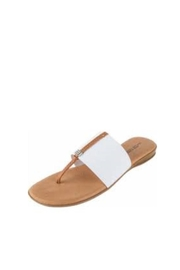 Andre Assous White Stretch Sandal - Product Mini Image