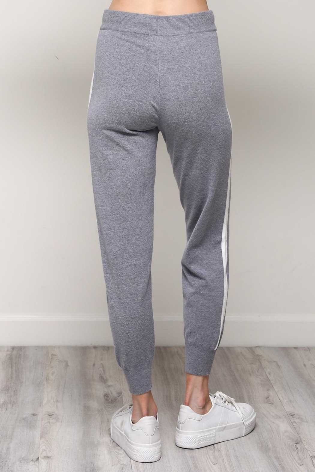 Mustard Seed White Stripe Joggers - Side Cropped Image