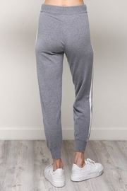 Mustard Seed White Stripe Joggers - Side cropped
