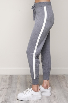 Mustard Seed White Stripe Joggers - Product List Image