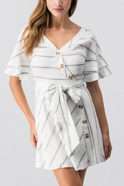 essue White Striped Dress - Front cropped