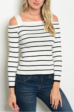 One Star White Striped Top - Product List Image