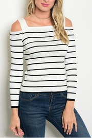 One Star White Striped Top - Product Mini Image