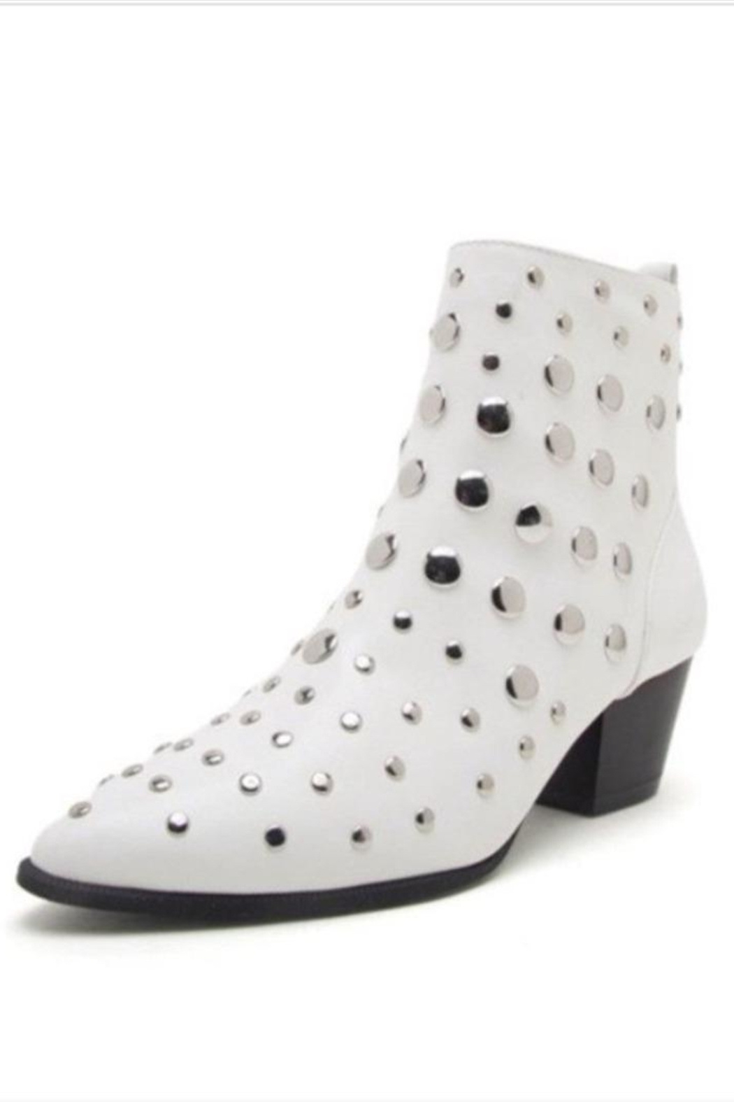 Qupid White Studded Bootie - Main Image