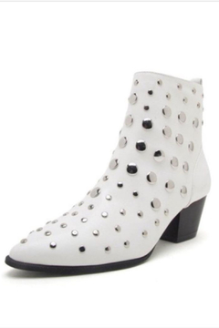 Shoptiques Product: White Studded Bootie