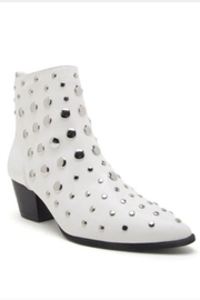 Qupid White Studded Bootie - Front cropped