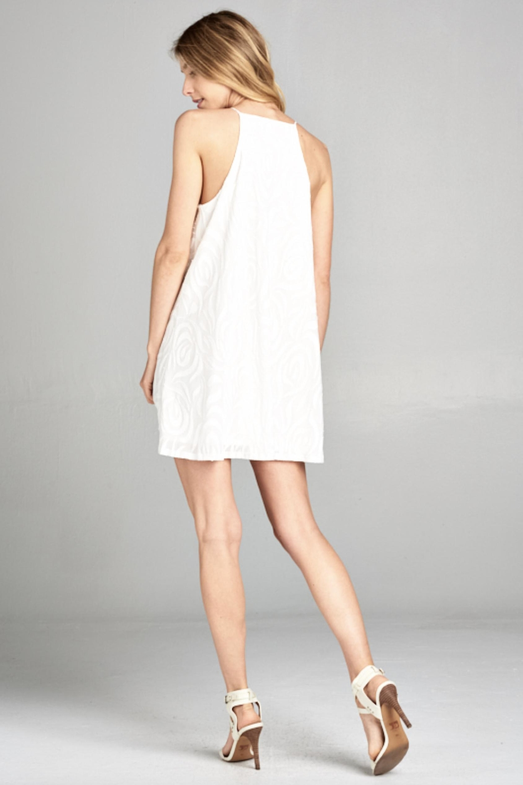 Lazy Sundays White Summer Dress - Front Full Image