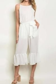 Unknown Factory White Summer Jumpsuit - Product Mini Image