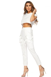 TIMELESS White Sweat Set - Side cropped