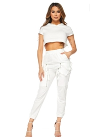 TIMELESS White Sweat Set - Front cropped