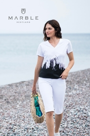 Marble White T-shirt with Black Pattern - Product Mini Image
