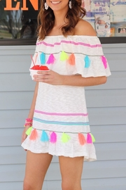 Ocean Drive White Tassel Dress - Product Mini Image