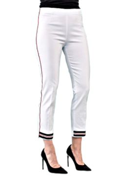 Shoptiques Product: White Techno Pant  with Striped Accents