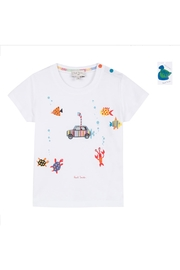 Paul Smith Junior White Ted T.Shirt - Product Mini Image