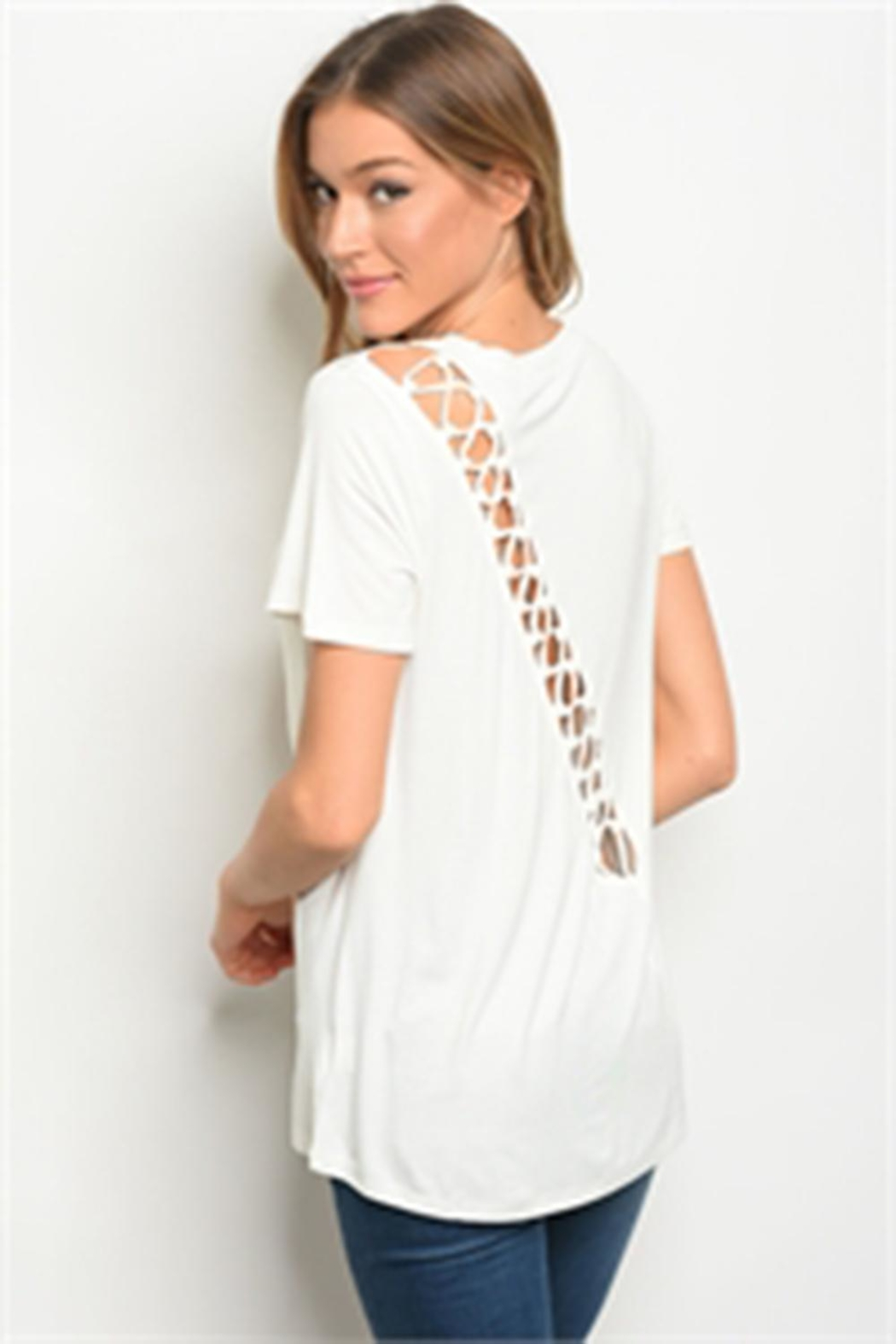 LoveRiche White Tee - Front Full Image