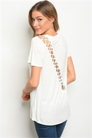 LoveRiche White Tee - Front full body