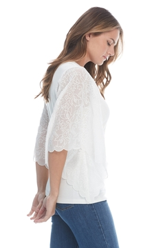 FDJ French Dressing Jeans White Tee with Dressy Sleeve - Alternate List Image