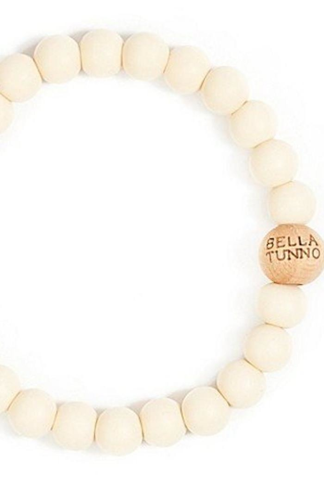 Bella Tunno White Teething Bracelet - Front Cropped Image