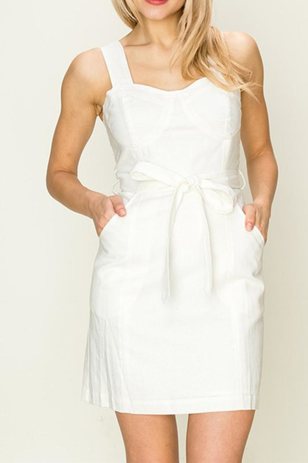HYFVE White Tie-Front Dress - Front Cropped Image