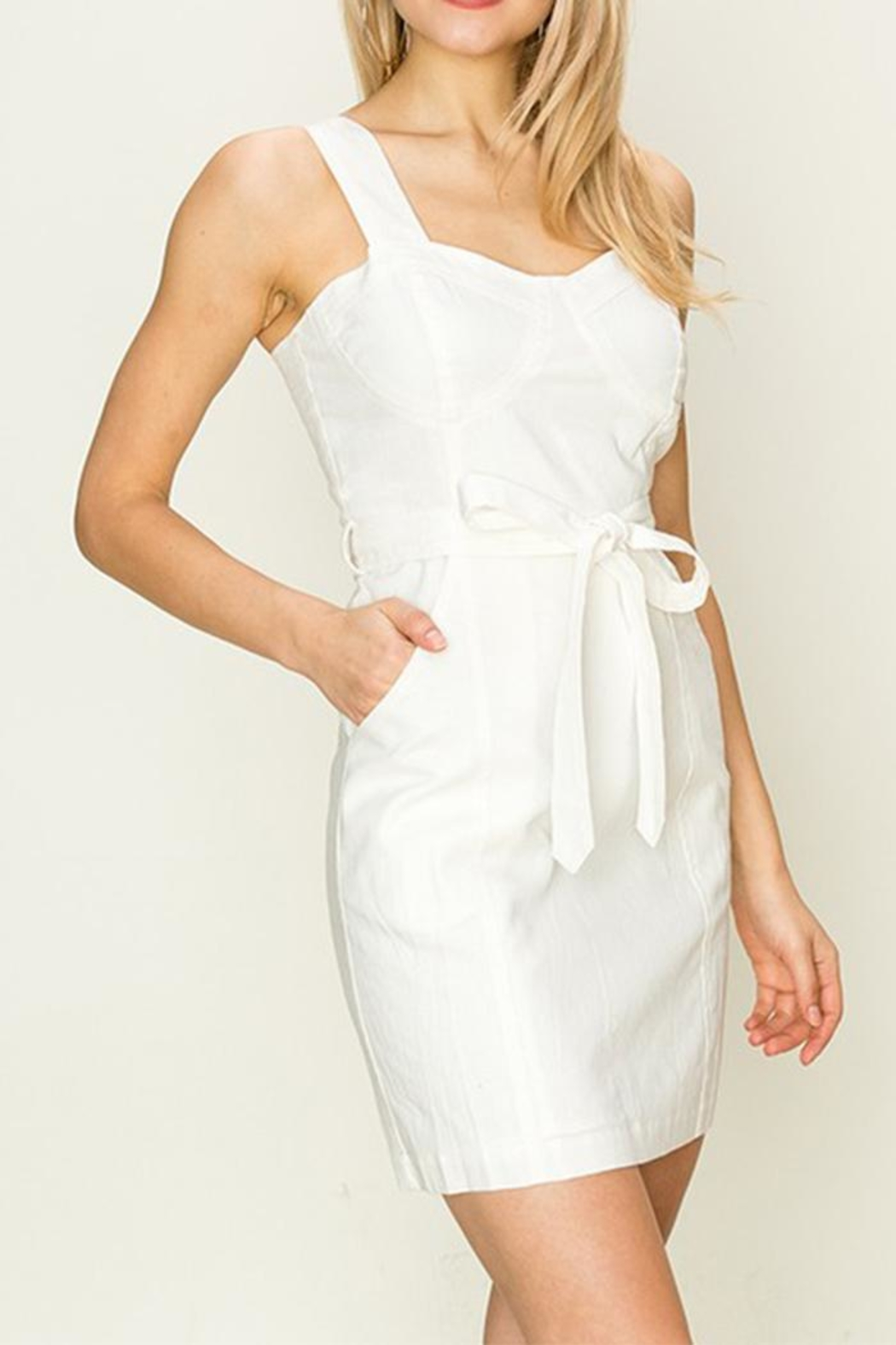 HYFVE White Tie-Front Dress - Front Full Image