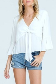 Lush White Tie-Front Top - Product Mini Image