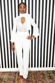 MODChic Couture White Tie Jumpsuit - Product Mini Image