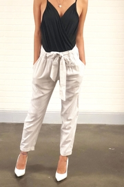 Final Touch White Tie Pant - Product Mini Image