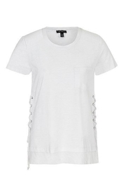 Tribal White Tie T-Shirt - Product Mini Image