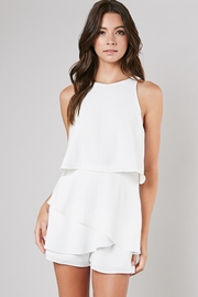 Do & Be White Tiered Romper - Product Mini Image