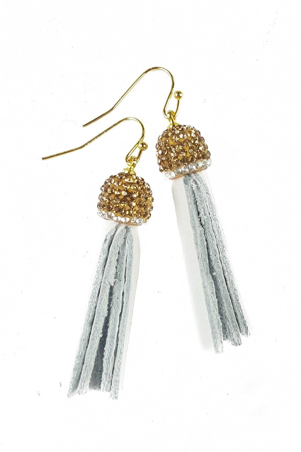 Fabulina Designs White Tisla Earrings - Front Cropped Image