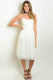 Humanity White Tulle Skirt - Front cropped