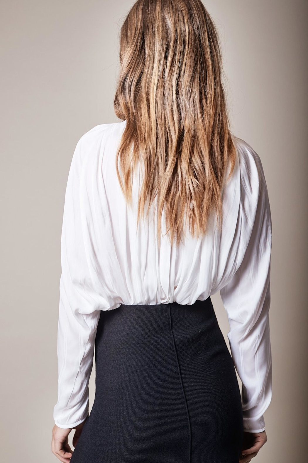 Smythe White Turtleneck Blouse - Front Full Image