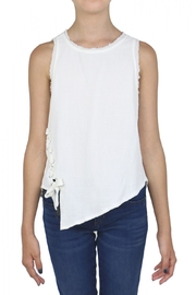 Tractr White Twisted Top - Product Mini Image