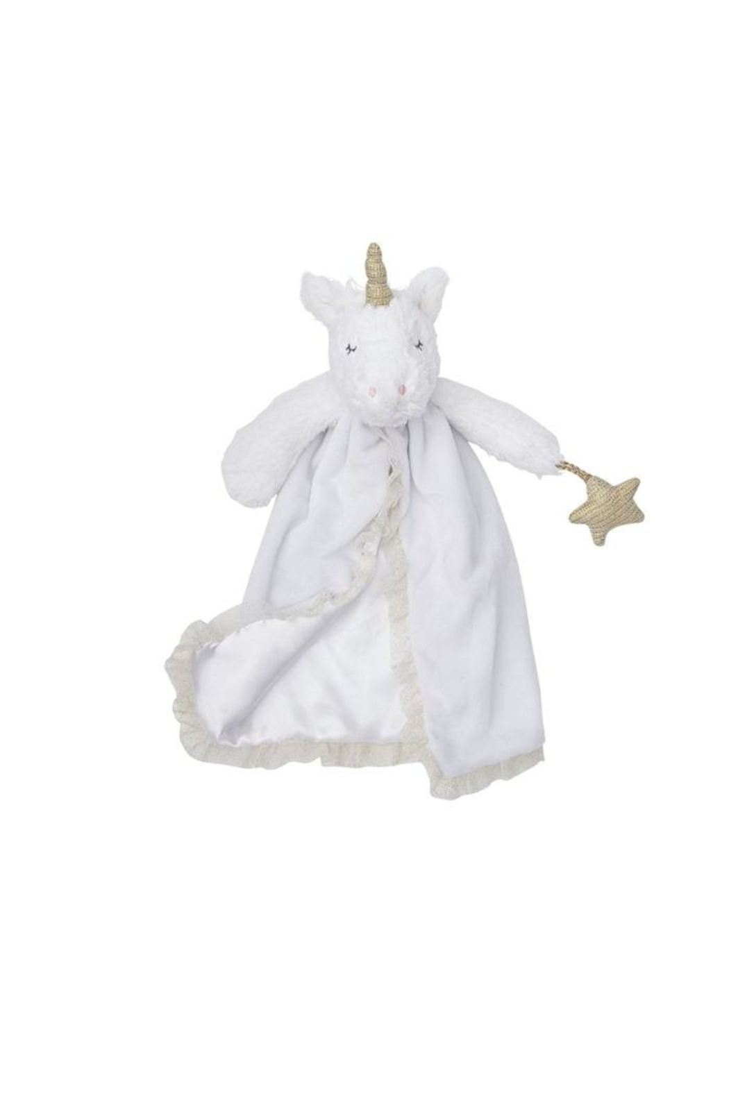 Mud Pie White Unicorn Lovie - Main Image